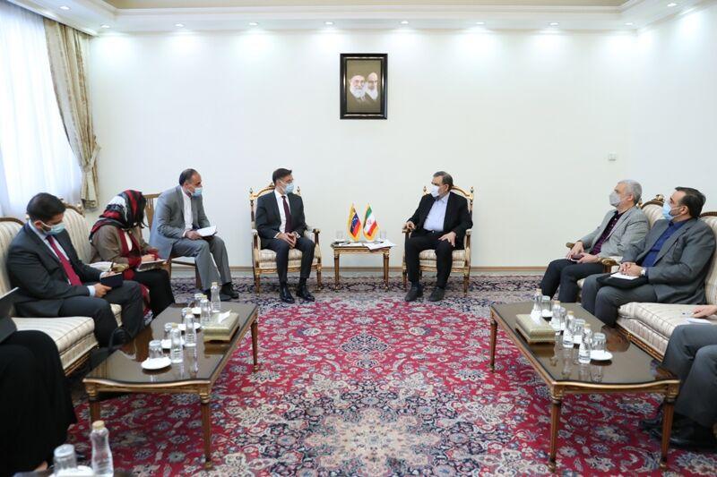 معاون اقتصادی رییس جمهوری در دیدار وزیر امور خارجه ونزوئلا: همکاری های اقتصادی ایران و ونزوئلا در یک مسیر روشن ادامه می یابد